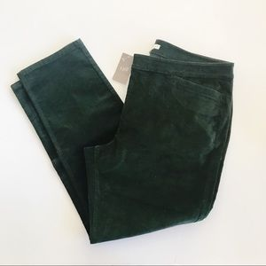J Jill Hunter Green Fine Corduroy Pants New 16P